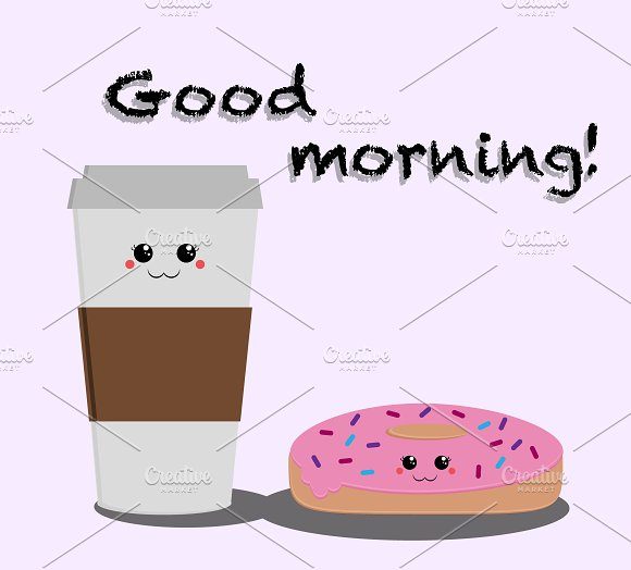 Morning Coffee And Donut