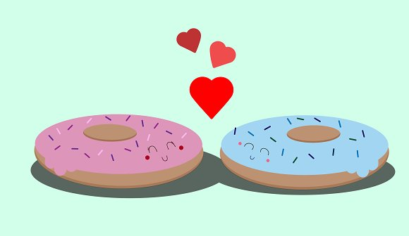Donuts in love
