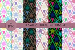 TRIBAL 6 seamless patterns set