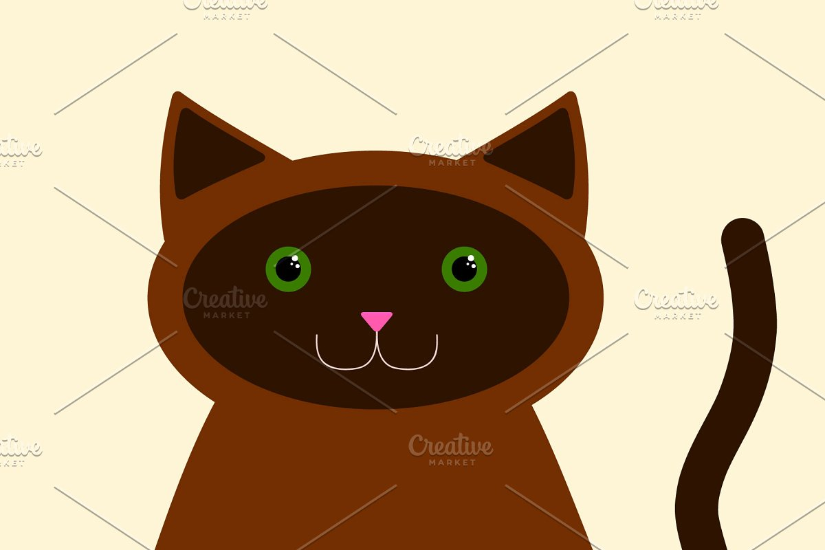 Black/Gray and Brown cats in Illustrations - product preview 8
