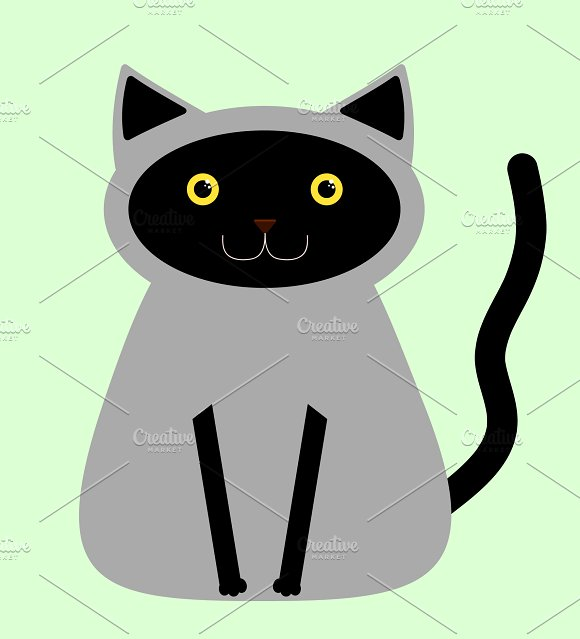 Black/Gray and Brown cats in Illustrations - product preview 1