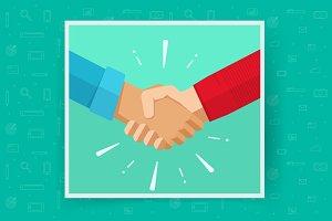 Hand Shake or Handshake Vector