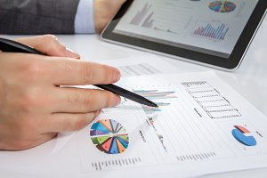 Business review chart documents