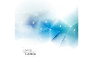Vector abstract geometric banner with triangle.
