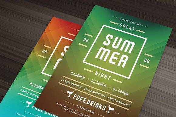 summer beach party flyer template flyer templates creative market
