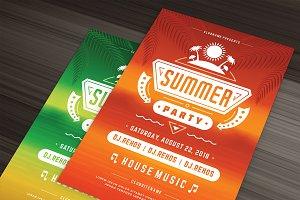 Summer beach party flyer template