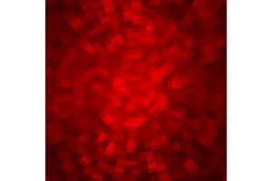 Abstract background made of shiny mosaic pattern. Disco style. Red color