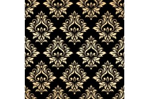 Luxury golden damask wallpaper
