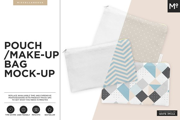 The Make-up Bag Mock-up / Pouch  - Product Mockups
