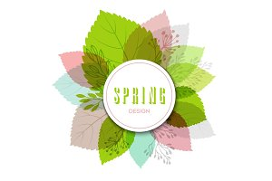 Fresh vector design for banners, greeting cards, spring sales.