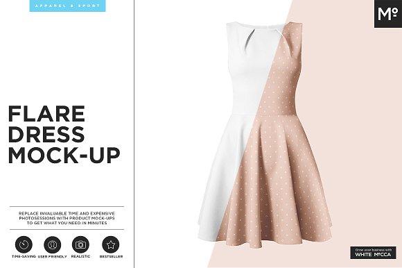 Download The Flare Dress Mock-up