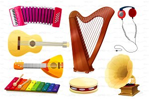 ♥ vector musical instruments