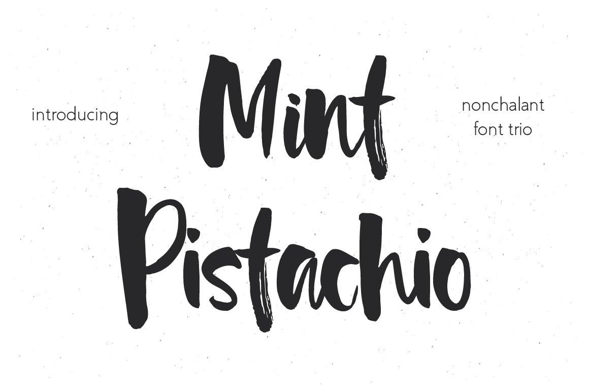 mint pistachio font trio script fonts creative market