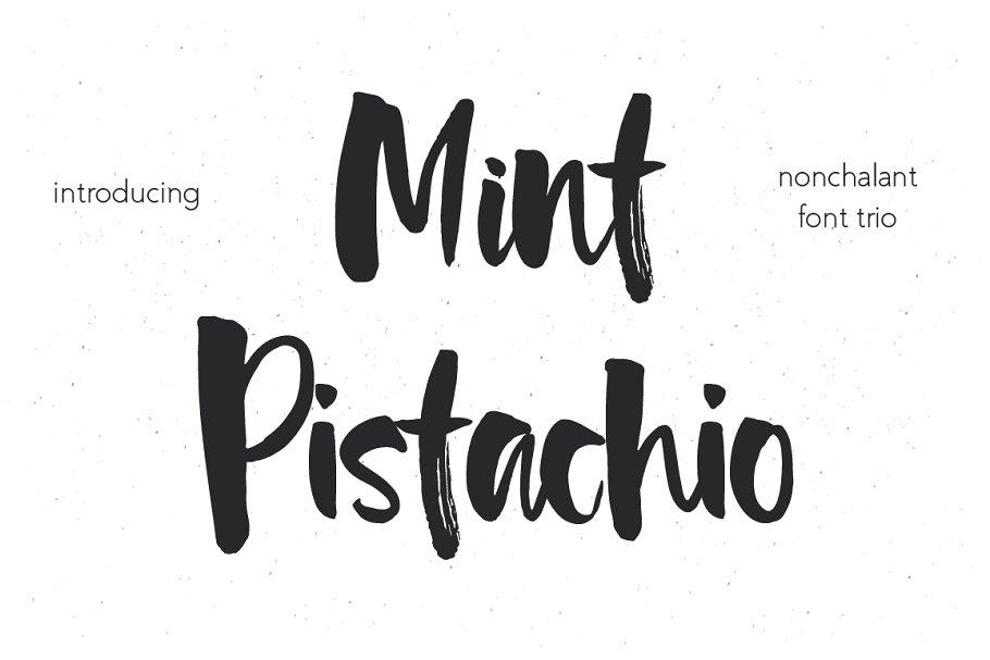 Mint Pistachio Font Trio ~ Script Fonts ~ Creative Market