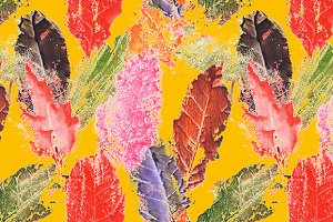 Autumn fall leaf seamless pattern
