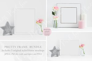 Floral Frame Mockups Mini Bundle