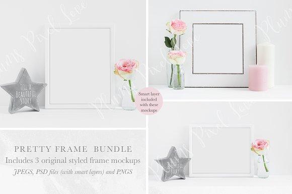 Floral Frame Mockups Mini Bundle