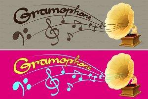 ♥ vector gramophone / phonograph