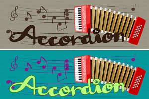 ♥ vector red accordion