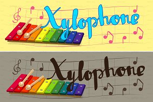 ♥ vector rainbow xylophone
