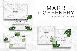 Marble + Greenery Stationary