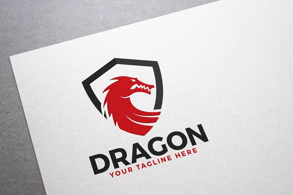 Dragon Shield Logo in Logo Templates - product preview 1