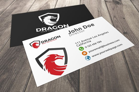 Dragon Shield Logo in Logo Templates - product preview 2