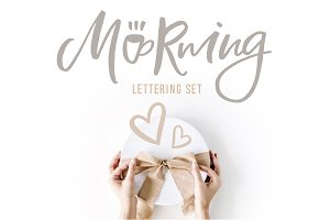 Morning Lettering Set