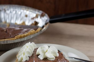 Chocolate Cream Pie on a Plate