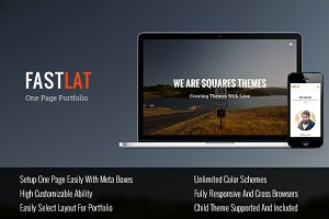 Fastlat - One Page Wordpress Theme