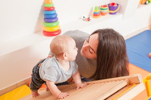 Interaction between mother and baby
