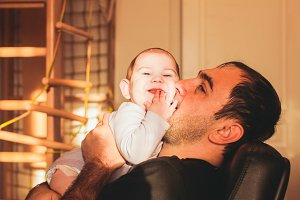 Love of father to his baby