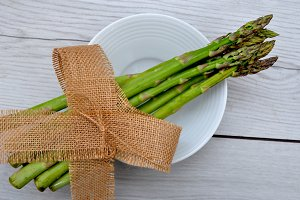 Asparagus bunch with bow