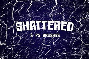 Shattered - 8 Distressed Brushes