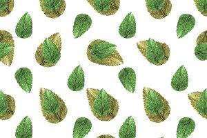 Leaves Motif Nature Seamless Pattern