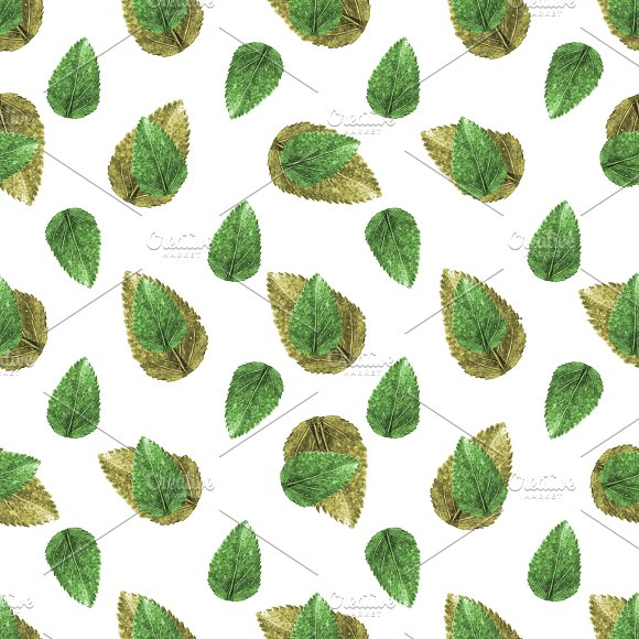 Leaves Motif Nature Seamless Pattern in Patterns