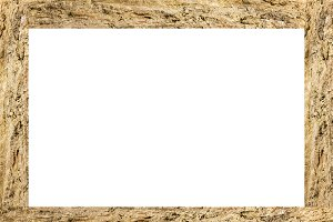 White Frame With Texture Borders