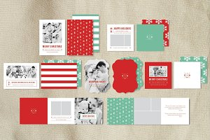 Christmas Card Templates Set
