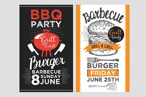 Barbecue party, bbq invitations