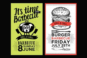Bbq invitations, barbecue party