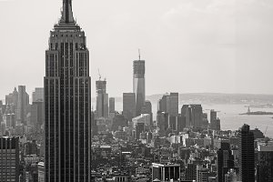 New York Cityscape Black and White