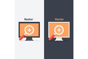 Difference between vector and raster