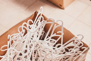 Plastic clothes hangers