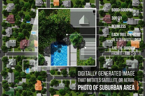 Suburban Area Satellite View