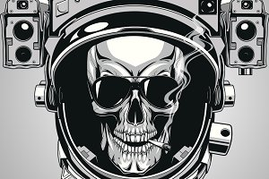 Skull in a spacesuit