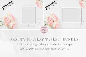 2 Tablet Flatlay Mockups