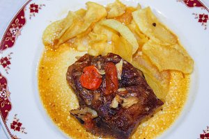 Oven Lamb with Chips