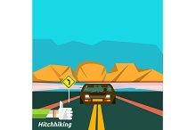 Hitchhiking tourism