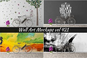 Wall Mockup - Sticker Mockup Vol 421