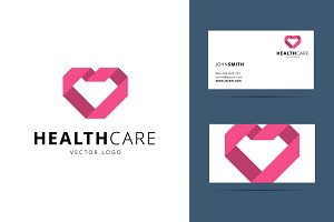 Health care vector logo template